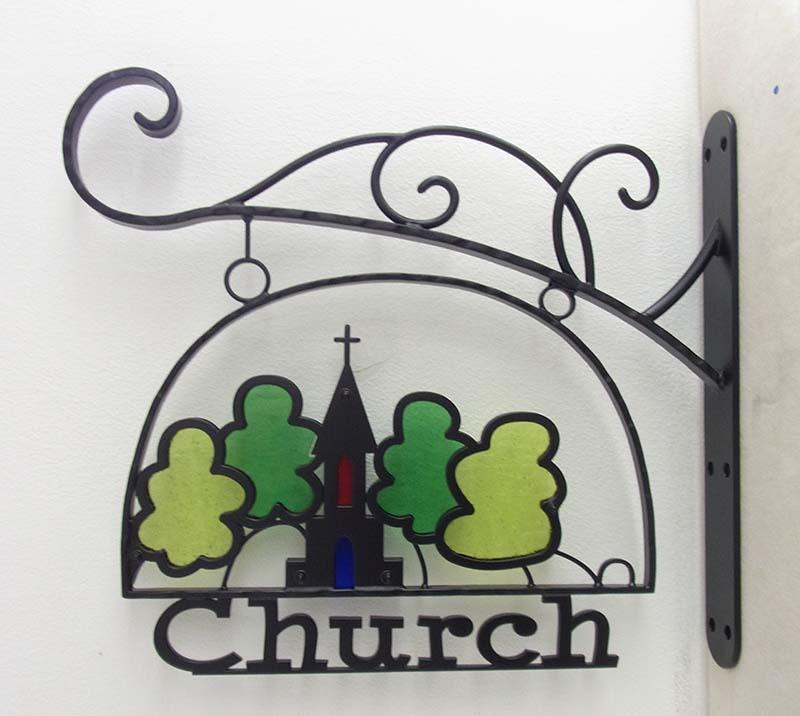 教会の看板